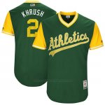 Camiseta Beisbol Hombre Oakland Athletics 2017 Little League World Series Khris Davis Verde