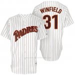 Camiseta Beisbol Hombre San Diego Padres San Diego 31 Dave Winfield Blanco Turn Back The Clock Jugador