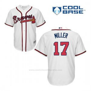 Camiseta Beisbol Hombre Atlanta Braves 17 Shelby Miller Blanco 1ª Cool Base