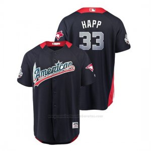 Camiseta Beisbol Hombre All Star Game Toronto Blue Jays Jays J.a. Happ 2018 1ª Run Derby American League Azul