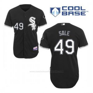 Camiseta Beisbol Hombre Chicago White Sox 49 Chris Sale Negro Alterno Cool Base