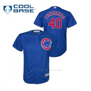 Camiseta Beisbol Nino Chicago Cubs Willson Contreras Cool Base Alternato Azul