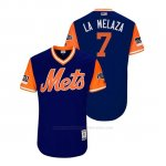 Camiseta Beisbol Hombre New York Mets Jose Reyes 2018 Llws Players Weekend La Melaza Royal