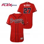 Camiseta Beisbol Hombre Atlanta Braves Fred Mcgriff 150th Aniversario Patch Autentico Flex Base Rojo