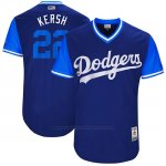 Camiseta Beisbol Hombre Los Angeles Dodgers 2017 Little League World Series Clayton Kershaw Azul