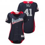 Camiseta Beisbol Mujer All Star Game Chris Sale 2018 1ª Run Derby American League Azul