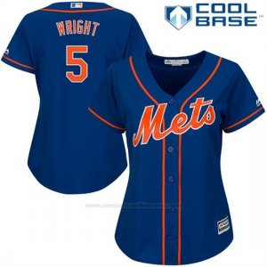 Camiseta Beisbol Mujer New York Mets David Wright Cool Base Royal