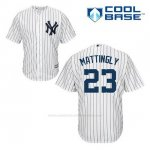 Camiseta Beisbol Hombre New York Yankees Don Mattingly 23 Blanco 1ª Cool Base