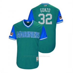 Camiseta Beisbol Hombre Seattle Mariners Marco Gonzales 2018 Llws Players Weekend Gonzo Aqua