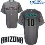Camiseta Beisbol Hombre Arizona Diamondbacks 10 Chris Herrmann Cool Base Gris