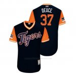 Camiseta Beisbol Hombre Detroit Tigers Jim Adduci 2018 Llws Players Weekend Deuce Azul