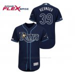 Camiseta Beisbol Hombre Tampa Bay Rays Kevin Kiermaier 150th Aniversario Patch Autentico Flex Base Azul