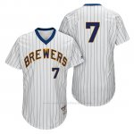 Camiseta Beisbol Hombre Milwaukee Brewers Eric Thames Blanco 1982 Turn Back The Clock