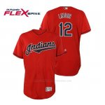 Camiseta Beisbol Hombre Cleveland Indians Francisco Lindor Flex Base Autentico Collection Alternato 2019 Rojo