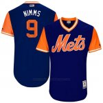 Camiseta Beisbol Hombre New York Mets 2017 Little League World Series Brandon Nimmo Royal