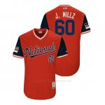 Camiseta Beisbol Hombre Washington Nationals Justin Miller 2018 Llws Players Weekend J. MillzRojo
