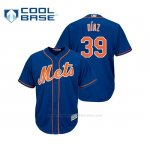 Camiseta Beisbol Hombre New York Mets Edwin Diaz Cool Base Majestic Alternato Azul
