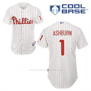 Camiseta Beisbol Hombre Philadelphia Phillies Richie Ashburn 1 Blanco 1ª Cool Base