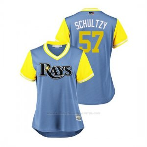 Camiseta Beisbol Mujer Tampa Bay Rays Jaime Schultz 2018 Llws Players Weekend Schultzy Light Toronto Blue Jays