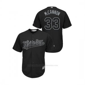Camiseta Beisbol Hombre Chicago White Sox James Mccann 2019 Players Weekend Mccannon Replica Negro