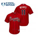 Camiseta Beisbol Hombre Atlanta Braves Ender Inciarte Cool Base Alternato 2019 Rojo