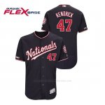 Camiseta Beisbol Hombre Washington Nationals Howie Kendrick 150th Aniversario Patch Autentico Flex Base Azul