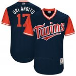 Camiseta Beisbol Hombre Minnesota Twins 2017 Little League World Series Jose Berrios Azul