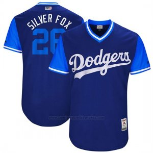 Camiseta Beisbol Hombre Los Angeles Dodgers 2017 Little League World Series Chase Utley Royal