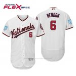 Camiseta Beisbol Hombre Washington Nationals Anthony Rendon Flex Base Entrenamiento de Primavera 2019 Blanco