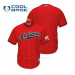 Camiseta Beisbol Hombre Cleveland Indians 2019 All Star Game Patch Cool Base Alternato Personalizada Rojo