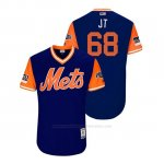 Camiseta Beisbol Hombre New York Mets Jeff Mcneil 2018 Llws Players Weekend Jt Royal