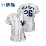 Camiseta Beisbol Mujer New York Yankees Andrew Mccutchen Cool Base 1ª Blanco