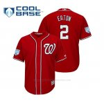 Camiseta Beisbol Hombre Washington Nationals Adam Eaton Cool Base Entrenamiento de Primavera 2019 Rojo
