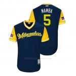Camiseta Beisbol Hombre Milwaukee Brewers Jonathan Schoop 2018 Llws Players Weekend Mamba Azul