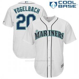 59e7c39b66 Camiseta Beisbol Hombre Seattle Mariners Dan Vogelbach Blanco Cool Base