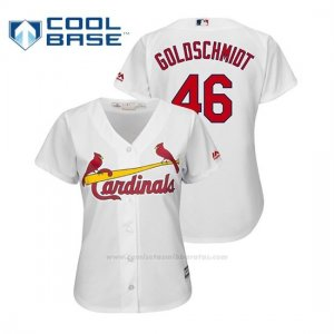 Camiseta Beisbol Mujer St. Louis Cardinals Paul Goldschmidt Cool Base Official Home Blanco