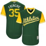 Camiseta Beisbol Hombre Oakland Athletics 2017 Little League World Series Daniel Coulombe Verde