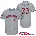 Camiseta Beisbol Hombre Pittsburgh Pirates 2017 Estrellas y Rayas David Freese Gris Flex Base