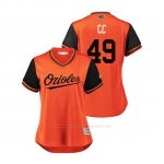 Camiseta Beisbol Mujer Baltimore Orioles Cody Carroll 2018 Llws Players Weekend Cc Orange