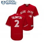 Camiseta Beisbol Nino Toronto Blue Jays Troy Tulowitzki Cool Base Replica Scarlet
