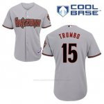 Camiseta Beisbol Hombre Arizona Diamondbacks 15 Mark Trumbo Gris Cool Base