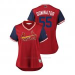 Camiseta Beisbol Mujer St. Louis Cardinals Dominic Leone 2018 Llws Players Weekend Dominator Rojo