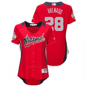 Camiseta Beisbol Mujer All Star Game Nolan Arenado 2018 1ª Run Derby National League Rojo