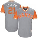 Camiseta Beisbol Hombre San Francisco Giants 2017 Little League World Series Conor Gillaspie Gris