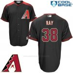 Camiseta Beisbol Hombre Arizona Diamondbacks 38 Robbie Ray Negro Cool Base