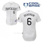 Camiseta Beisbol Hombre Colorado Rockies Corey Dickerson 6 Blanco 1ª Cool Base
