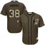 Camiseta Beisbol Hombre Baltimore Orioles 38 Jimmy Parojoes Salute To Service Olive