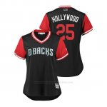 Camiseta Beisbol Mujer Arizona Diamondbacks Archie Bradley 2018 Llws Players Weekend Hollywood Negro