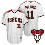Camiseta Beisbol Hombre Arizona Diamondbacks 11 A.J. Pollock 1ª Blanco