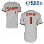 Camiseta Beisbol Hombre Baltimore Orioles 1 Everth Cabrera Gris Cool Base